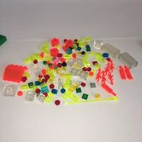 135+ SMALL TRANSLUCENT LEGO PIECES LOT 1x1 1x2 2x2 tiny space dots Bricks dishes