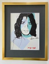 ANDY WARHOL ORIGINAL 1984 SIGNED MICK JAGGER MATTED TO BE FRAMED AT 11X14