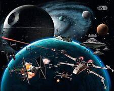 Poster Star Wars Raumschlacht X-Wing Todesstern Sternzerstörer 50 x 40 cm