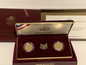 1997 2 Coins U.S. Franklin D. Roosevelt $5 Gold Commemoratives Set No COA