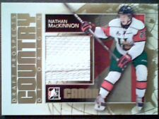 NATHAN MacKINNON 13/14 AUTHENTIC WHITE SEAMED PIECE OF A GAME-USED JERSEY/10
