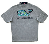 VINEYARD VINES Boys Shark Batik Whale Pocket T-Shirt Gray Tee NWT MEDIUM 12-14