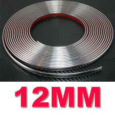 12 mm (1.2 Cm) X 15 M Tira Estilo De Coche Cromo Adhesivo Trim moldeo nuevo vendedor de Reino Unido