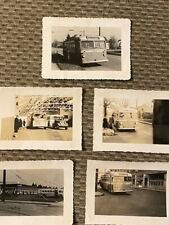 Vintage Lot of 1940s Buses and Bus Station Photos 5 Pictures