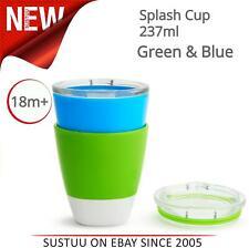 Munchkin Splash Baby Feeding Cups/Mugs│Drinking/Training Cup│237ml│Green & Blue