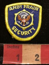 Circa 1990s Small Chicago IL Area ANDY FRAIN SECURITY Advertising Patch 00N3
