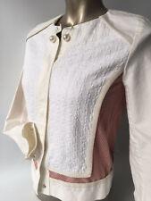 ESCADA SPORT cortos chaqueta americana Elástico Red Cuentas Talla 36 (C498)