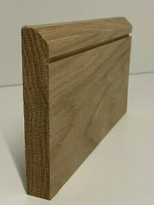Solid American White Oak 45 Degree-Grooved Skirting