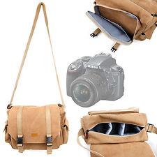 Tan Canvas Satchel Bag For Nikon D100, D200, D2X, D3300 SLR Camera Bag