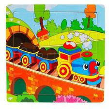 Wooden Kids 16 Piece Jigsaw Toys For Children Education Learning Puzzles HOT4