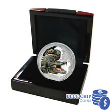 2017 $1 Aus Remarkable Reptiles Saltwater Crocodile 1oz Silver Coloured Coin