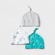 Cloud Island Newborn Stocking Hats 3pk Neutral Colors 0-3 Months Nwt
