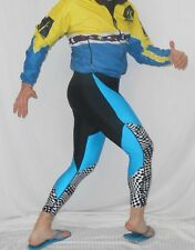 80's CROSS COUNTRY Ski TIGHTS Unisex HOT CHILLYS Spandex PANTS Sz M