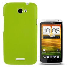 Struktur Hardcase in grün für HTC One X / S720e Rückschale Hülle Schutzcase