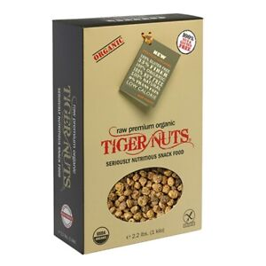 Tiger Nuts Raw Organic Fiber Prebiotic SuperFood Health Snack  2.2 lb Bag (1kg)
