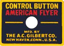 ACCESSORY/ACTION CAR BUTTON ADHESIVE STICKER for American Flyer O Gauge Trains