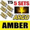 5 X SETS T5 286 LED ULTRA YELLOW REAR HIGH LEVEL BRAKE LIGHT BULBS XENON LAMP
