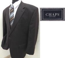 RALPH LAUREN designer BROWN PINSTRIPE mens suit sz 44L 44 LONG