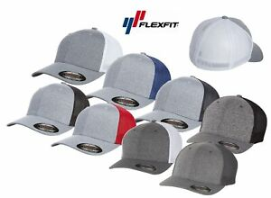 Flexfit Custom Hat 6311 Melange Mesh Lids Trucker Cap Fitted OSFM - Choose Color