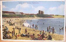 Irish Postcard PORTRUSH WEST BAY Shore Castle Erin Dennis 1959 Northern Ireland