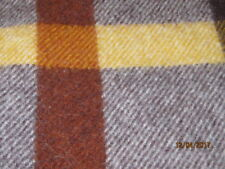 Vintage Wool Of The West Stadium Plaid Wool Blanket 57X52