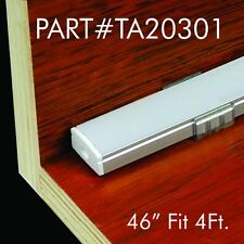 """TECLED 46"""" 4Ft. Aluminum Profile U Channel for LED Strip/Tape Light #20301Silver"""