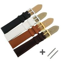 Watchbands Genuine Leather Stainless Steel Buckle Clasp 12,14, 16,18,20,22,24 Mm