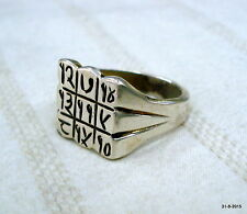 Sterling silver Ring Shani Yantra Ring good luck ring