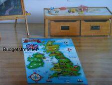 Anti Slip Children's Educational UK map Nursery Kids Bedroom Play Rug 100x138cm