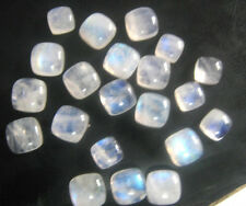 AAA Quality 20 Pieces Rainbow Moonstone 8x8 mm Cushion cabochons Loose Gemstone