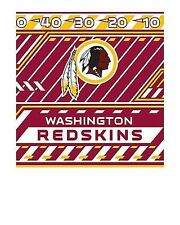 """Washington Redskins Stretchable & Washable Book Cover -Fits books up to 8"""" x 10"""""""