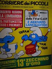 Corriere dei Piccoli 10-11 1971  con inserti regioni - I PUFFI - Zecchino  [C18]