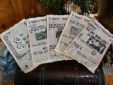 Harry Potter Five aged pages from The Daily Prophet . The Boy Who Lies?