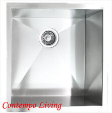 "19"" Zero Radius Stainless Steel Kitchen Island Bar Sink Square Sink"