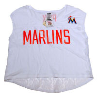Victoria's Secret Pink Miami Marlins T-Shirt Lace Back Graphic Tee Mlb Top Vs