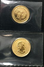 2014 CANADA ARCTIC FOX & QUEEN--$10 GOLD BU ENCASED 1/4 OZ .9999 PURE GOLD COIN
