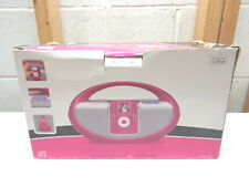 ILIVE IBR2807DP Apple Ipod Docking System~AM/FM Radio~Pink Boombox
