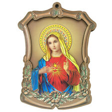 Catholic Our Lady Of Grace Vintage Mary Religious Wall Wood Statue