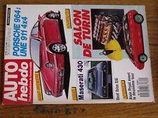 $$$ Revue Auto Hebdo N°622 Porsche 964Maserati 430Seat Ibiza SXiProst