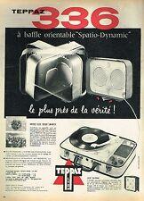 E- Publicité Advertising 1958 Electrophone Teppaz 336