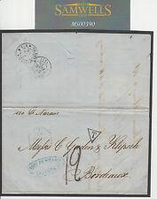 MS390 1876 VENEZUELA PO francesi all'estero POSTA MARITTIMA transatlantico paquebot COVER