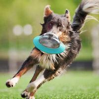 Dog Pet Food Dispenser Toy UFO Ball Cat Puppy Treat Training Interactive Feeder
