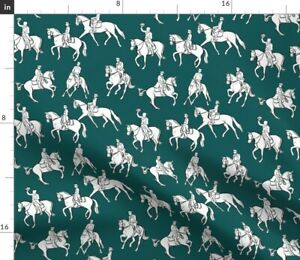Dressage Equestrian Horses Horse Riding Riding Spoonflower Fabric by the Yard