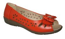 LADIES SUMMER OPEN TOE COMFORT SANDAL WITH PUNCH DETAIL & BOW 2 COLOURS 3 X 8