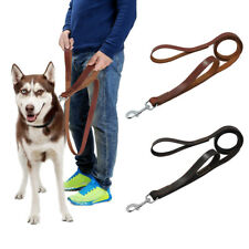 Strong Handle Leather Dog Lead Heavy Duty Durable Traffic Leads German Shepherd