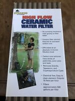 High Flow Ceramic Water Filter Hydration, Camping, Emergency Stearns Outdoors