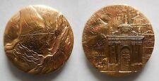 Vaticano medaglia paolo VI visita sacro monte Varese 1986 inc Bodini
