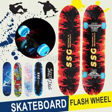 Flash Skateboard Deck Funboard Holzboard komplett 80x20cm Ahornholz Beginner
