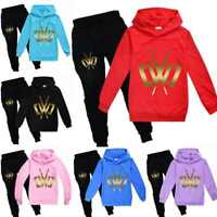 CWC Chad Wild Clay Kids Hoodie Hooded Pants Trousers Youtuber Game Tracksuit Set
