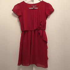 Epic Threads Red Short Sleeve Girls Ruffled Dress Size Medium